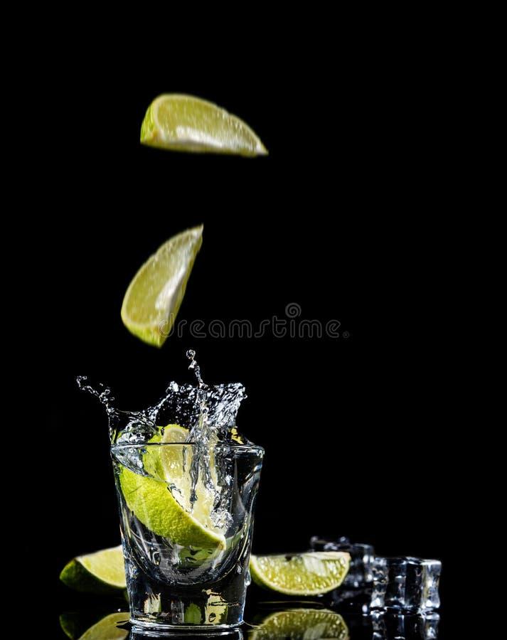 Éclaboussure mexicaine de tequila image libre de droits