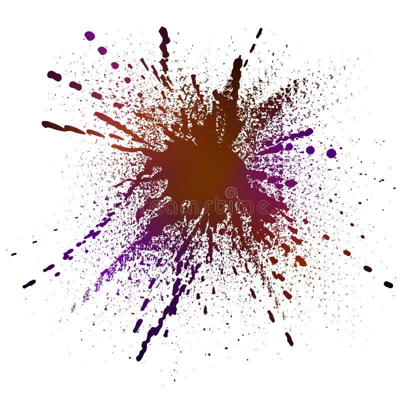 Éclaboussure noire d'encre illustration de vecteur