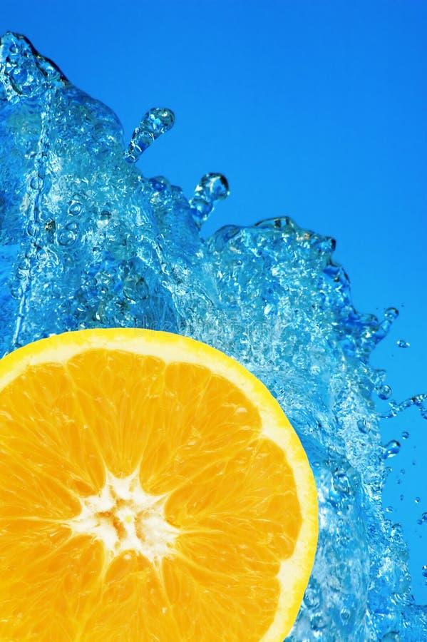 Éclaboussure orange photographie stock libre de droits