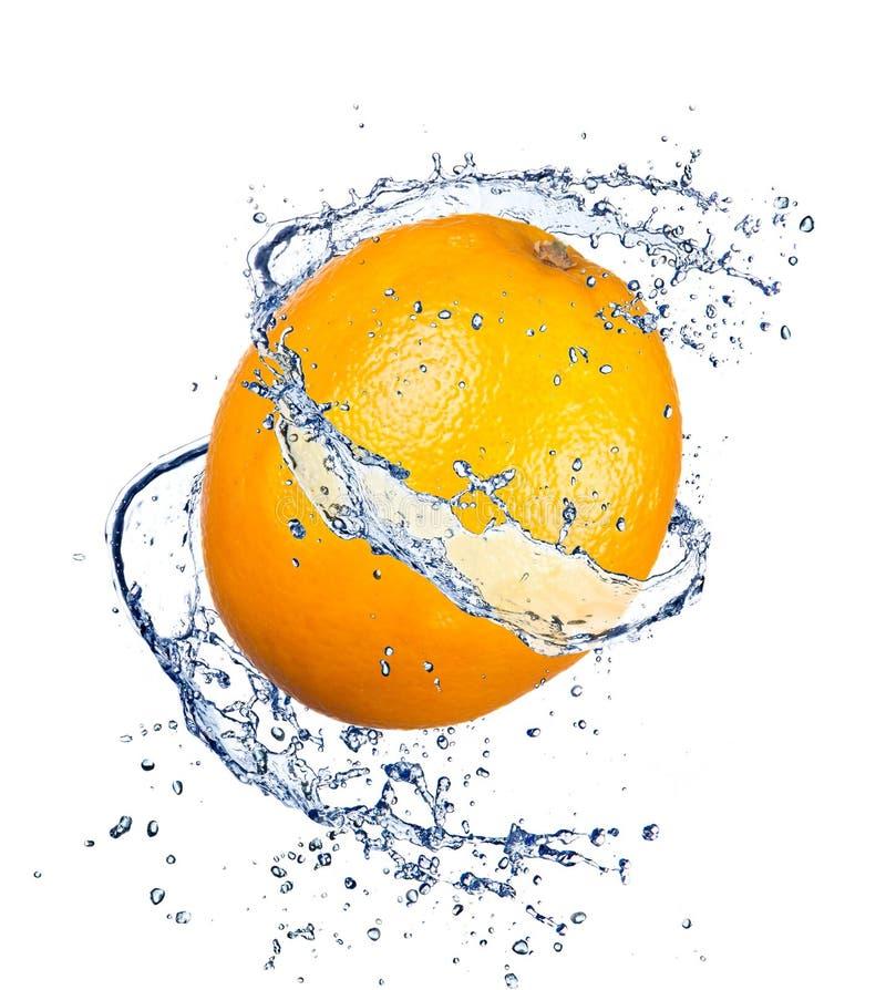 Éclaboussure orange photo libre de droits
