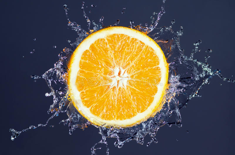 Éclaboussure orange images libres de droits