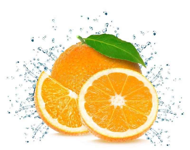 Éclaboussure orange images stock