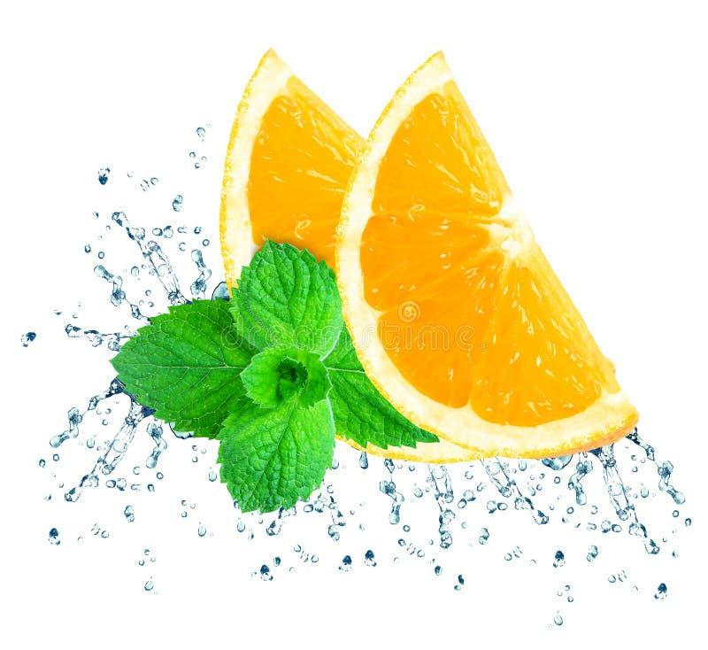 Éclaboussure orange de l'eau image libre de droits