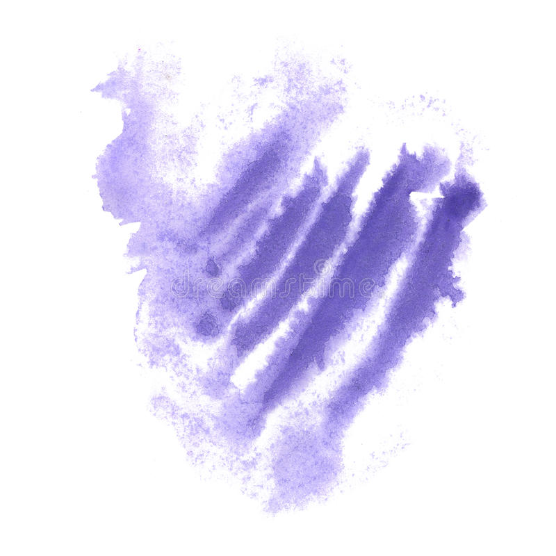Éclaboussure pourpre d'aquarelle la baisse abstraite d'aquarelle a isolé la tache pour votre art de conception illustration stock