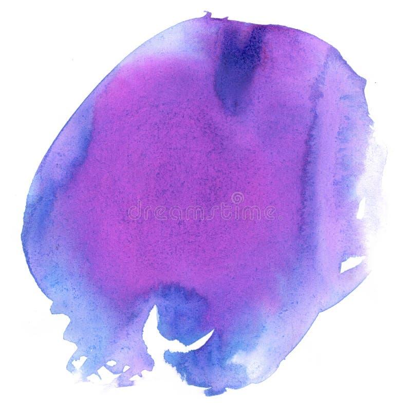 Éclaboussure rose bleue d'aquarelle la baisse abstraite d'aquarelle a isolé la tache pour votre art de conception illustration libre de droits