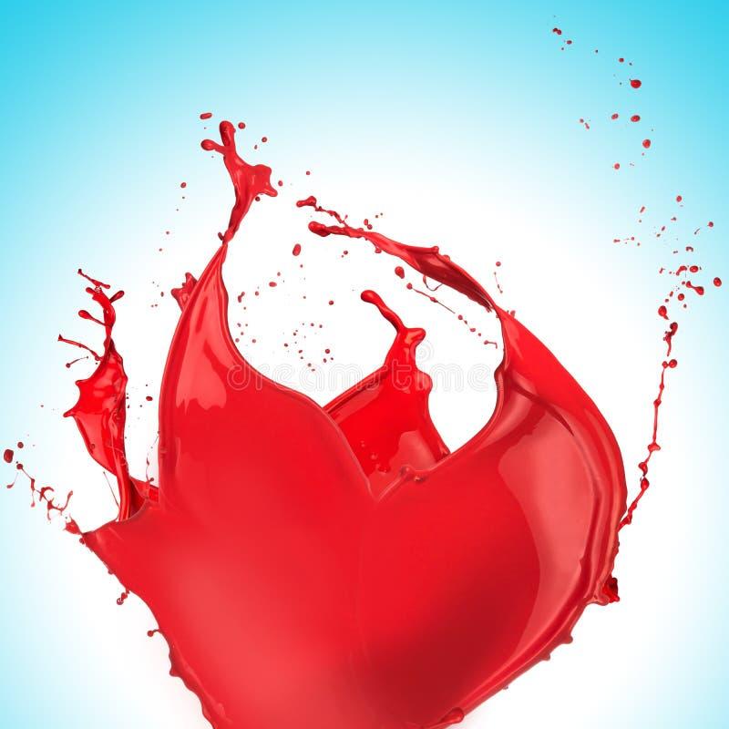 Éclaboussure rouge de peinture image libre de droits