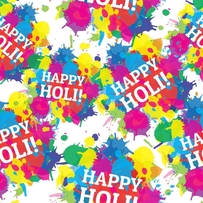 Éclaboussure sans couture de couleurs de modèle de festival indien illustration libre de droits