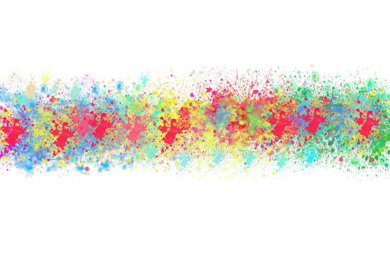 Éclaboussures abstraites d'aquarelle avec des couleurs d'arc-en-ciel à l'arrière-plan blanc photographie stock libre de droits