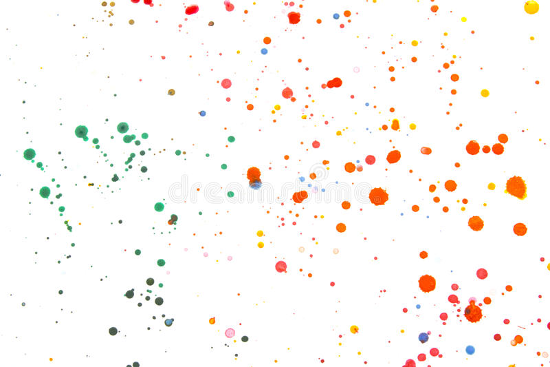 Éclaboussures et taches de peinture acrylique pour le fond images libres de droits
