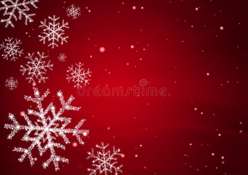 Éclaille de neige avec l'étoile illustration stock