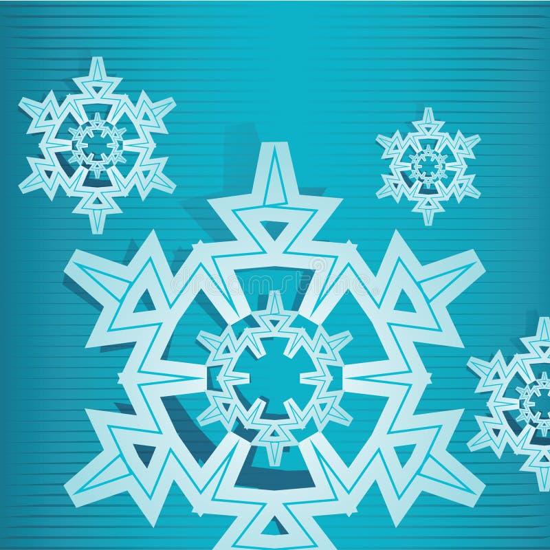 Éclaille deux de neige illustration libre de droits