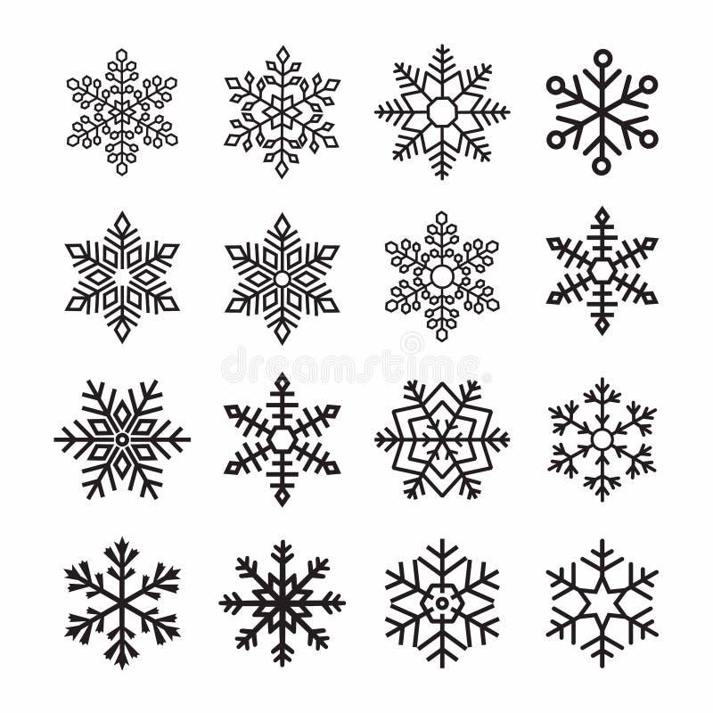 Éclailles de neige illustration stock