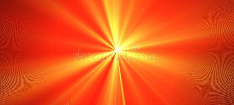 Éclair lumineux orange rouge de lumière Tache floue de mouvement Illustration de fête d'abrégé sur rayon de soleil de Staburst av illustration stock