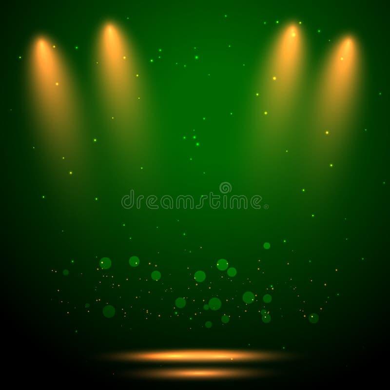 Éclair sur le backgroond vert illustration de vecteur