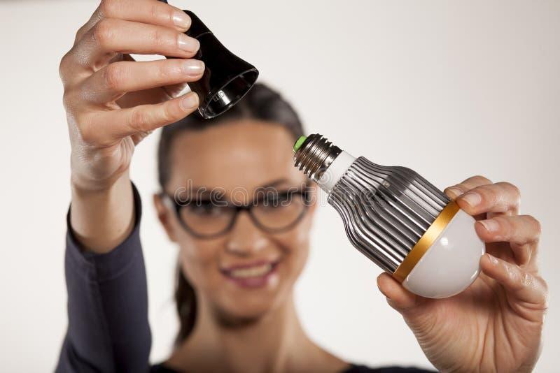 Éclairage économiseur d'énergie photographie stock libre de droits