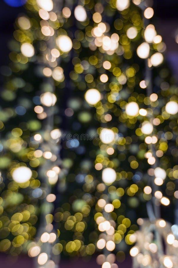 Éclairage de Bokah à la nuit photos stock