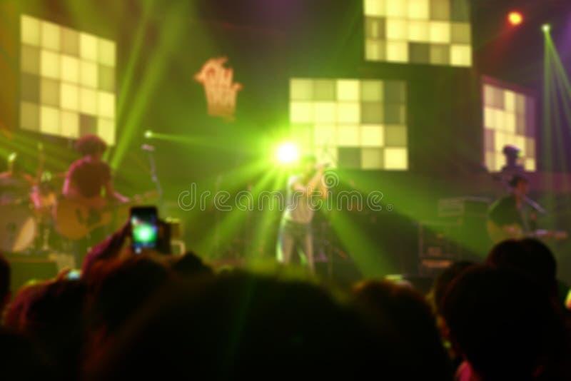 Éclairage de Bokeh dans le concert d'intérieur photographie stock libre de droits