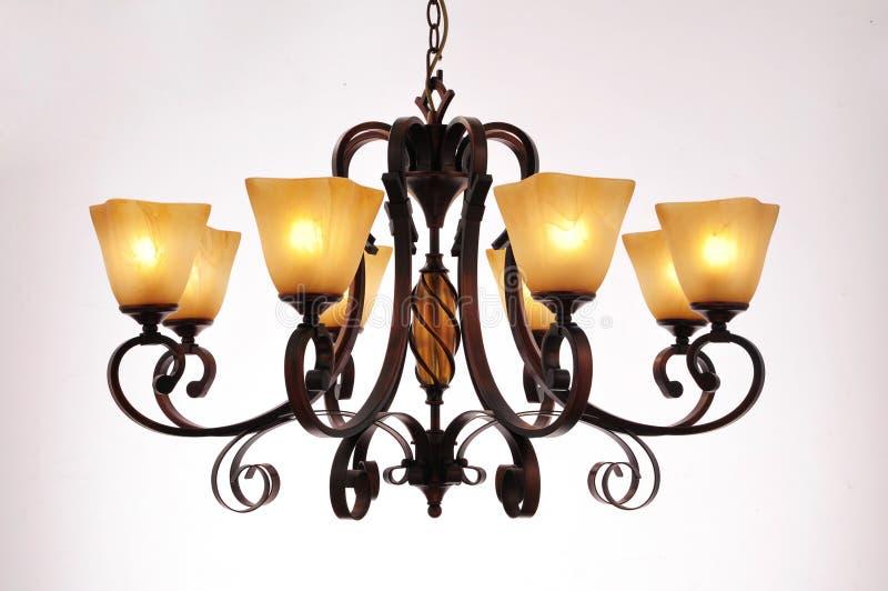 Éclairage de lampe de lustre photo stock