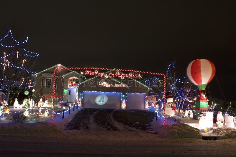 Éclairage de Noël photographie stock libre de droits