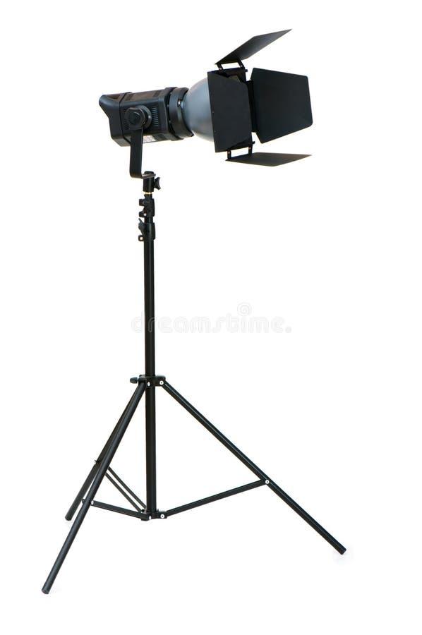 Éclairage de studio d'isolement sur le blanc photo libre de droits
