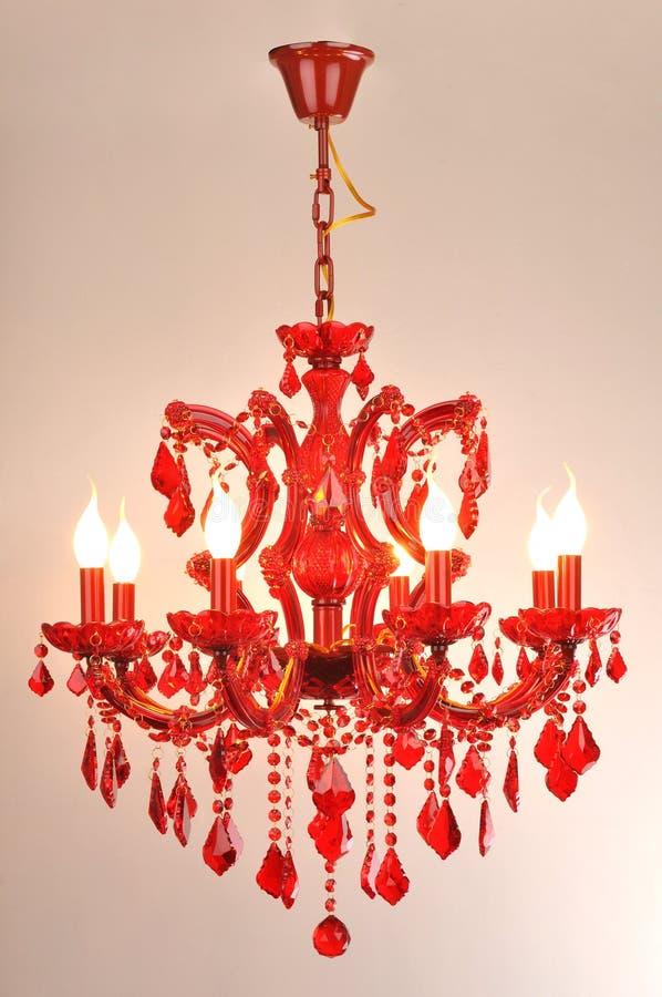 Éclairage en cristal rouge image stock