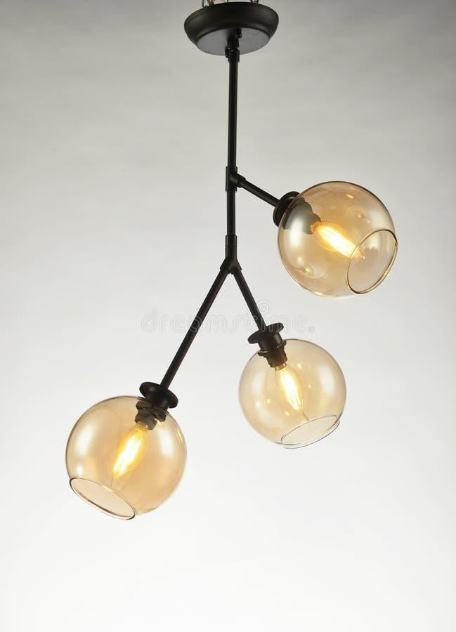 Éclairage en verre mené de plafond photo libre de droits