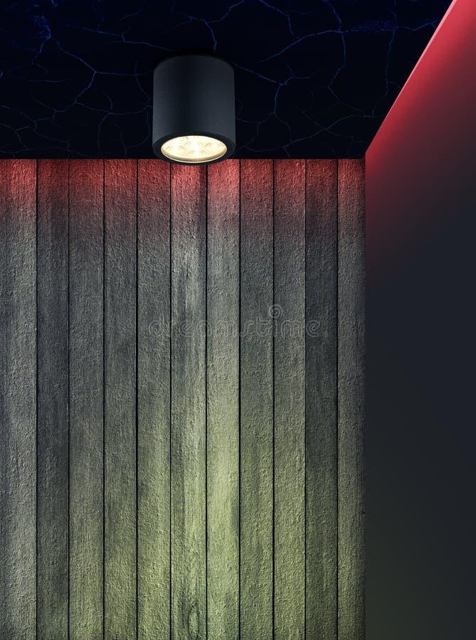 Éclairage intérieur utilisant la LED en bas de la lumière photos libres de droits