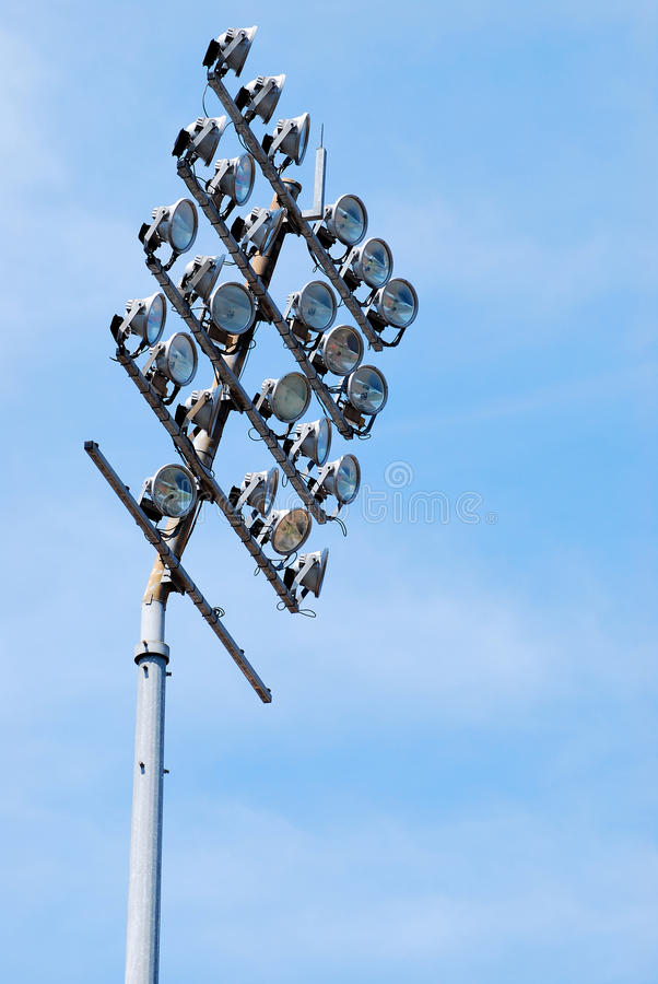 Éclairages de stade photo stock