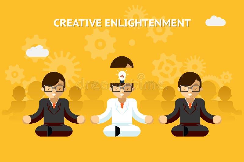 Éclaircissement créatif Gourou d'affaires créatif illustration de vecteur