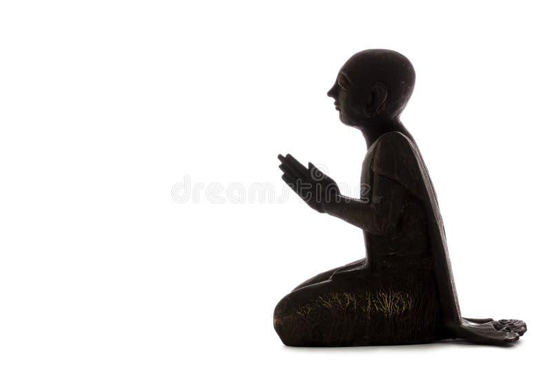 Éclaircissement de atteinte de Zen Master Moine bouddhiste dans la méditation photos stock