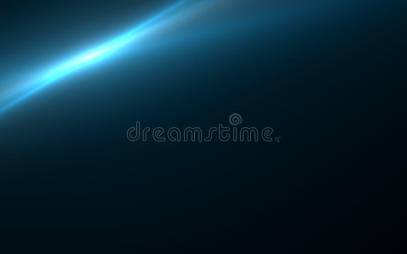éclat abstrait du soleil avec la lumière numérique de fusée de lentille illustration de vecteur