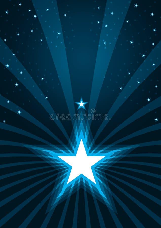 Éclat abstrait Spray_eps d'étoiles illustration de vecteur