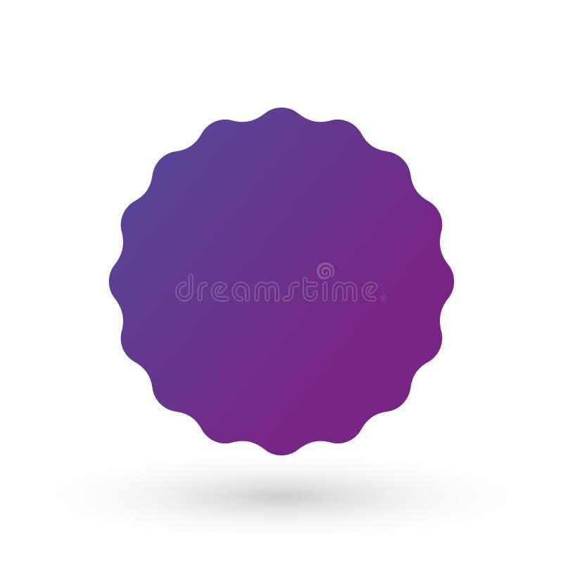 Éclat bordé doux, insigne, joint ou label de gradient pourpre illustration plate de vecteur pour des applis et l'emballage, d'iso illustration de vecteur