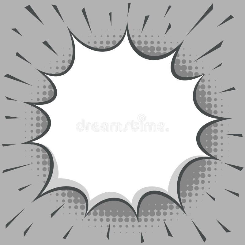 Éclat comique blanc abstrait illustration de vecteur