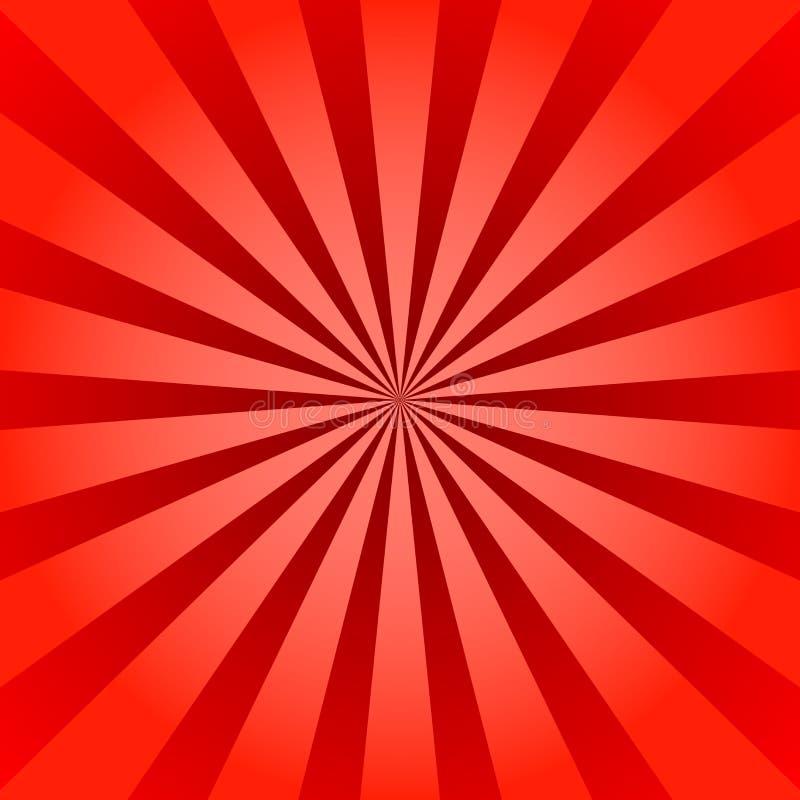 Éclat d'étoile d'affiche de rayons de rouge illustration stock
