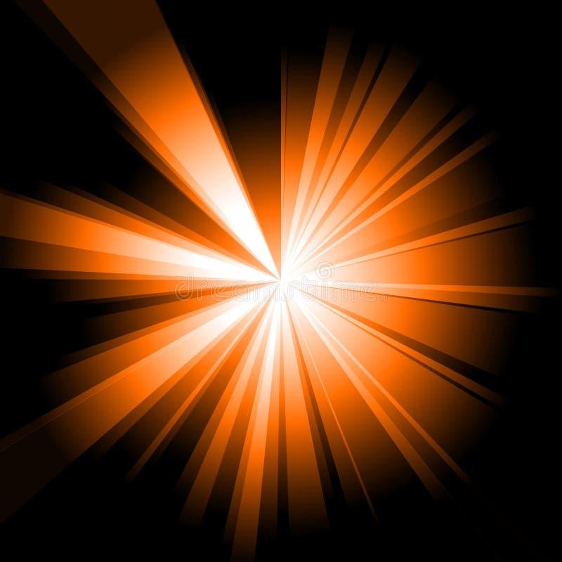 Éclat d'orange illustration stock