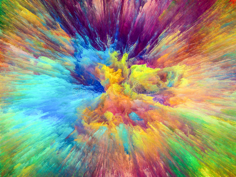 Éclat de couleur image stock