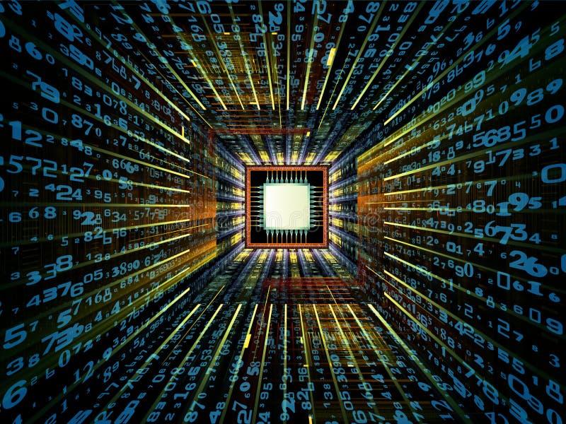 Éclat de CPU illustration de vecteur