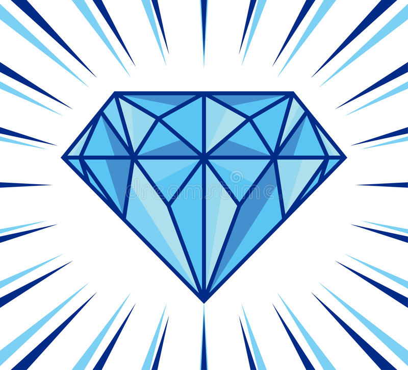 Éclat de diamant illustration stock