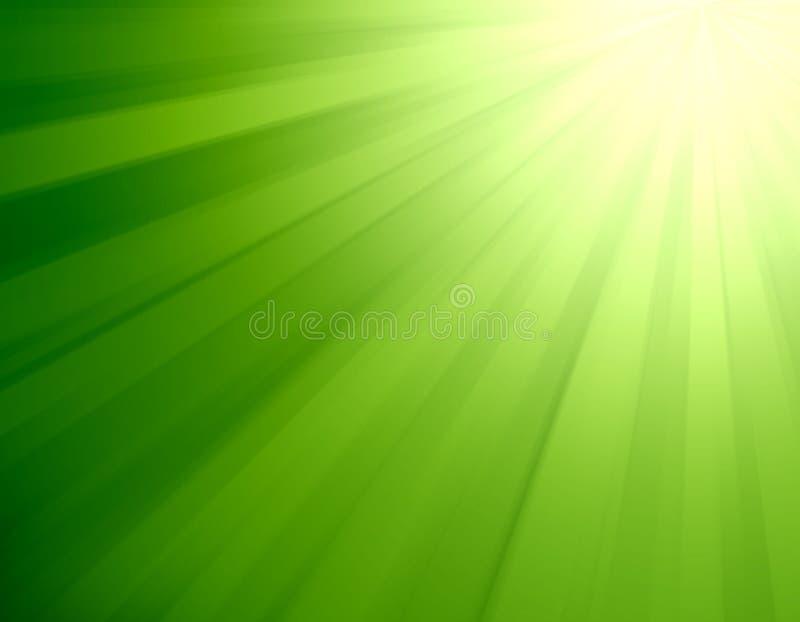 Éclat de feu vert illustration de vecteur