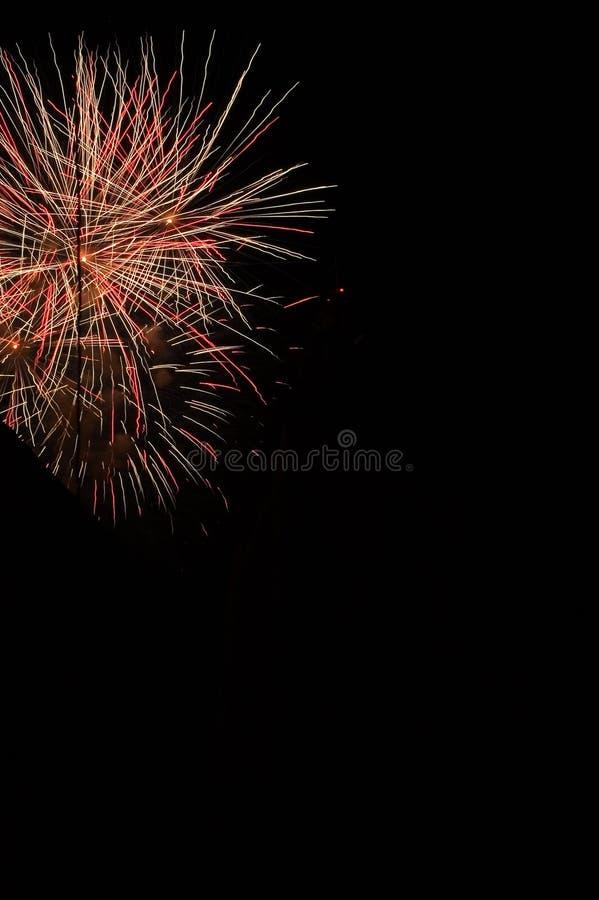 Éclat de feux d'artifice photographie stock
