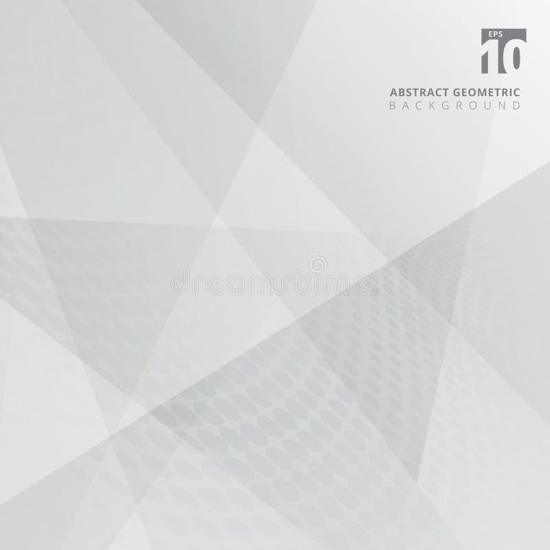 Éclat de la géométrie de fond et elem abstraits gris et blancs de couche illustration stock