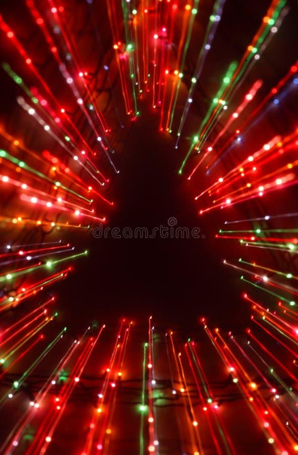 Éclat de lumière d'arbre de Noël photographie stock libre de droits