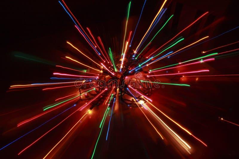 Éclat de lumières de Noël photographie stock