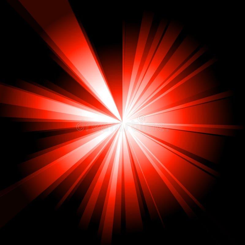 Éclat de rouge illustration stock