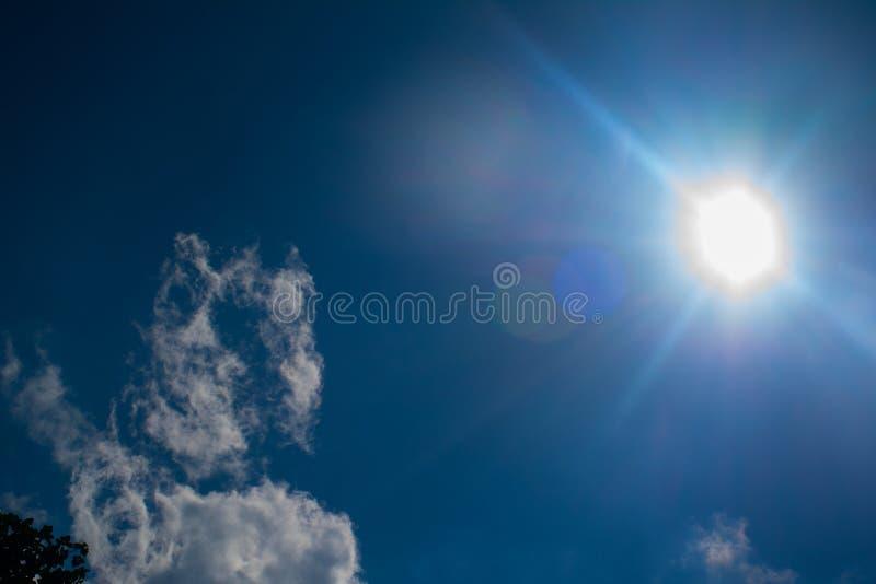 éclat du soleil image stock