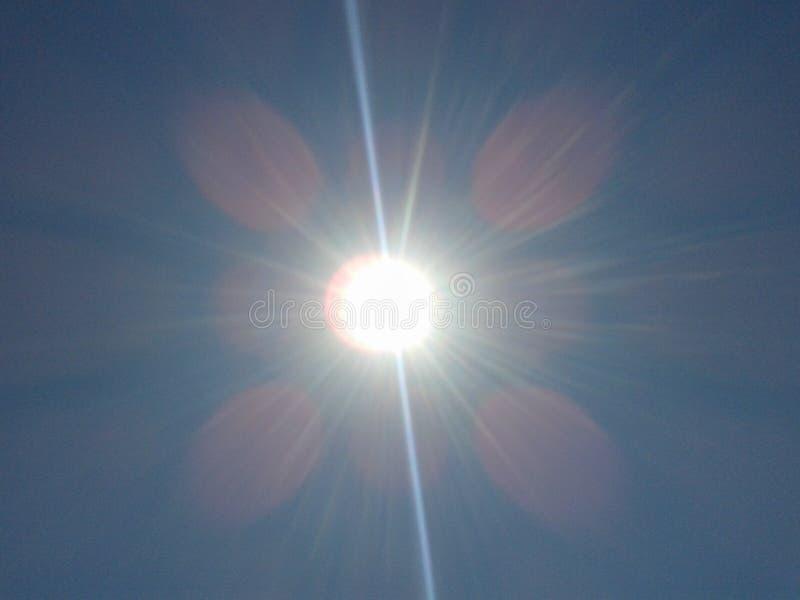 éclat du soleil images libres de droits