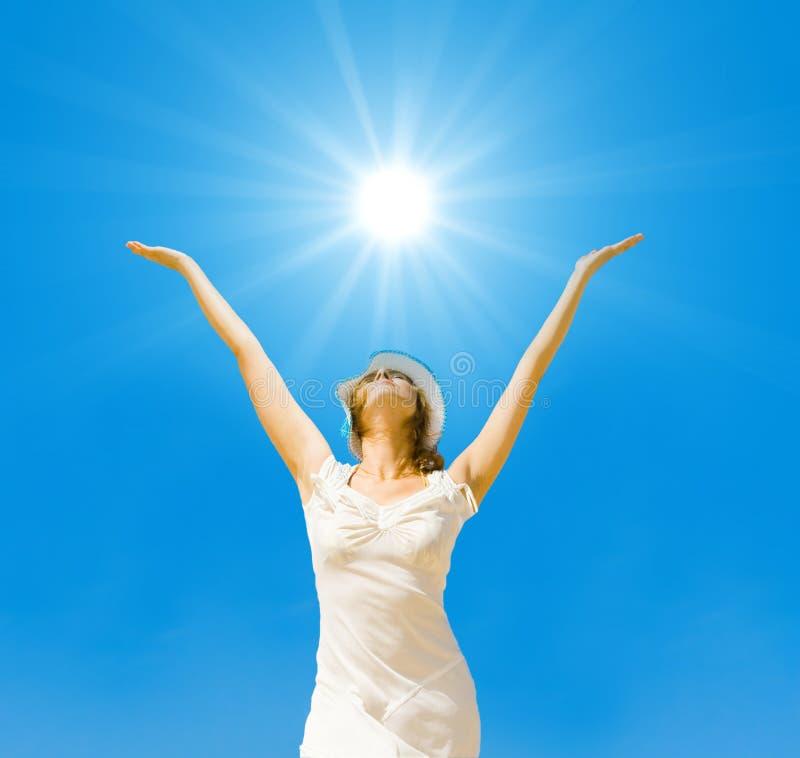 Éclat en fonction, le soleil d'été photo libre de droits