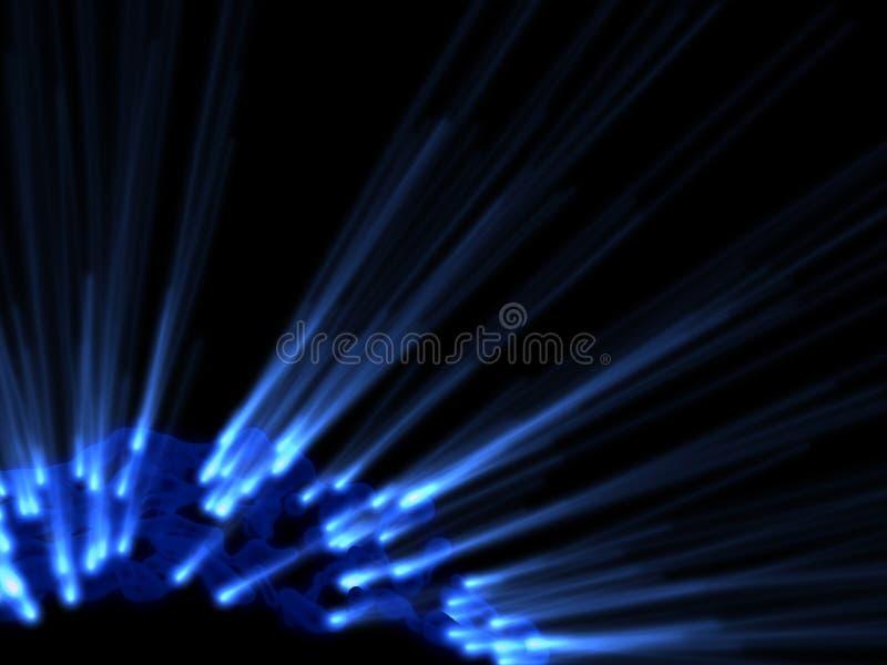 Download éclat foncé bleu de rayons illustration stock. Illustration du noir - 8661692