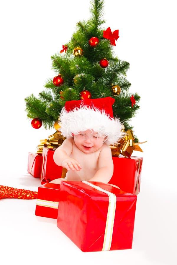 Éclatement des cadeaux de Noël photo stock